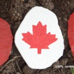 Canada flag at craftygardener.ca