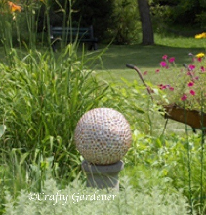 make a gazing ball at craftygardener.ca