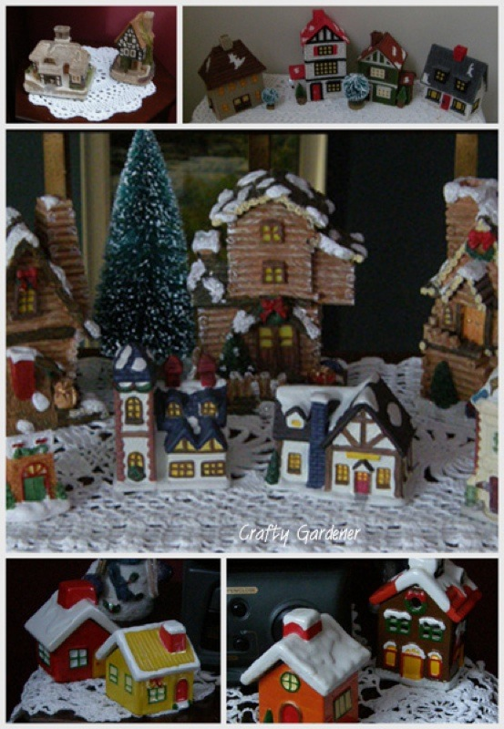 the Christmas village at craftygardener.ca