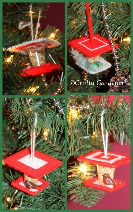 little bird feeder ornament at craftygardener.ca