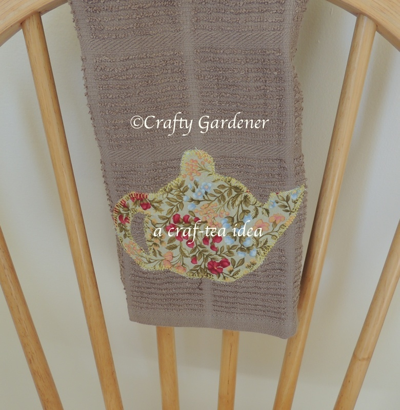 stitch a craf-tea towel at craftygardener.ca