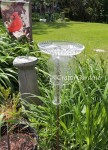 glass totem birdbath at craftygardener.ca