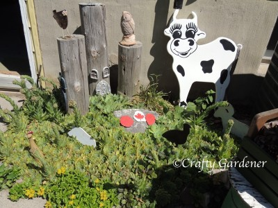 the farmyard garden at craftygardener.ca