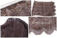 brown scarf knitted with alpaca yarn at craftygardener.ca