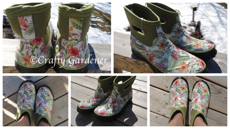 new rain boot at craftygardener.ca