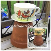 big teacup planters at craftygardener.ca