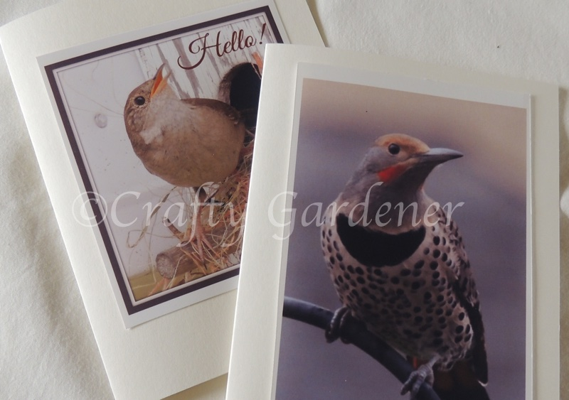 homemade greeting cards at craftygardener.ca