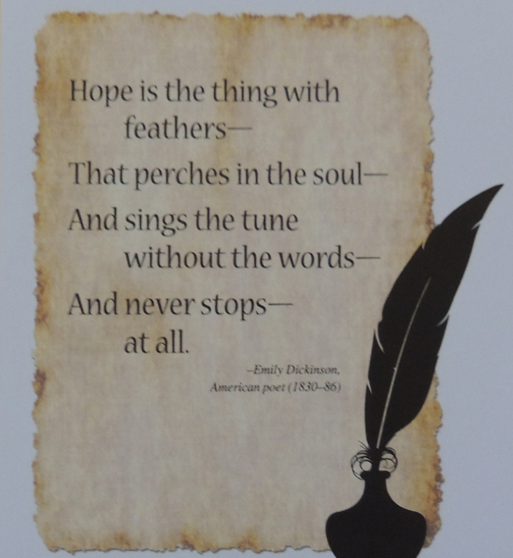 bird saying by Emily Dickinson