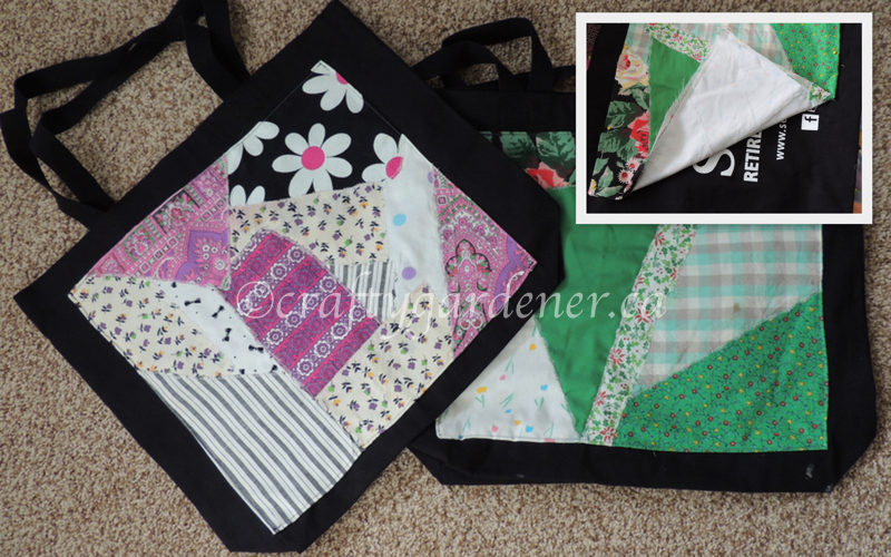 covering bags at craftygardener.ca