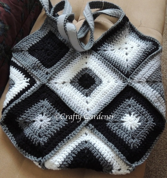 black and grey 'purse'onality tote bag - craftygardener.ca