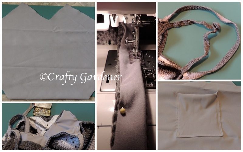 lining the black and grey 'purse'onality tote bag - craftygardener.ca