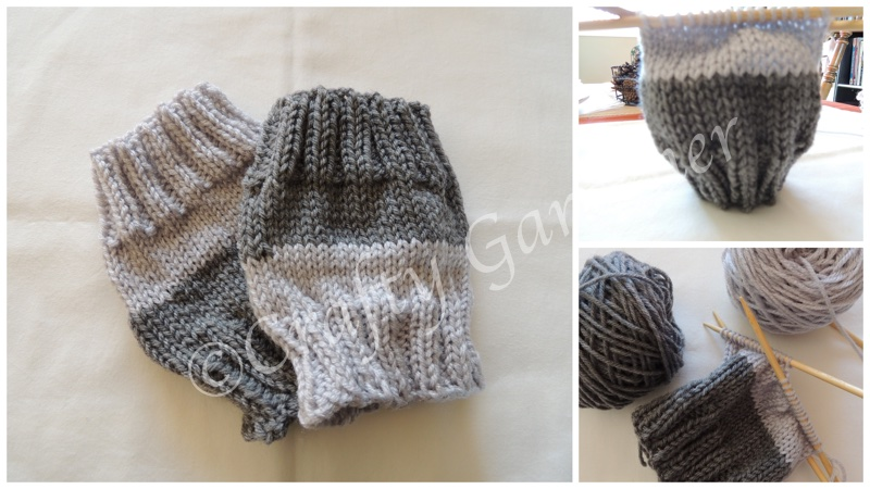 knitted boot cuffs at craftygardener.ca