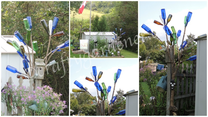 the bottle tree at craftygardener.ca