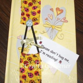 stitch a bookmark at craftygardener.ca