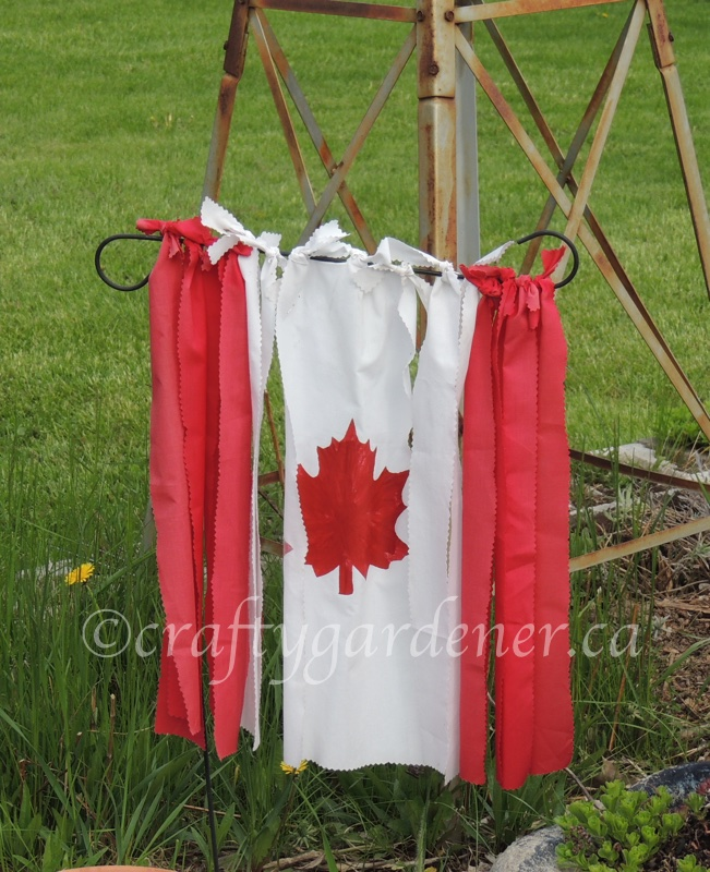 make a Canada flag at craftygardener.ca