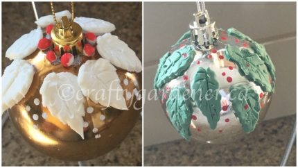 ornament decorated with cold porcelain dough at craftygardener.ca
