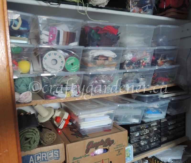 organizing the craft closet at craftygardener.ca