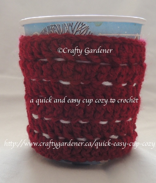 quick and easy mug cozy http://www.craftygardener.ca