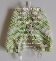 Printable Dishcloth Britches Poem