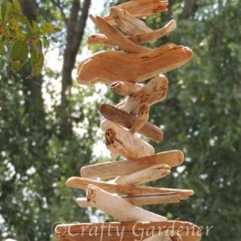 a driftwood spinner at craftygardener.ca