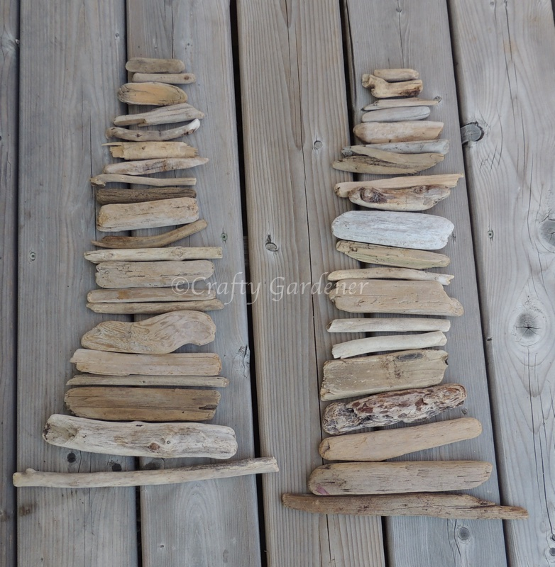 a collection of driftwood at craftygardener.ca