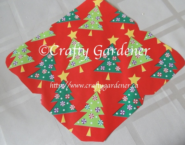 making festive envelopes at craftygardener.ca