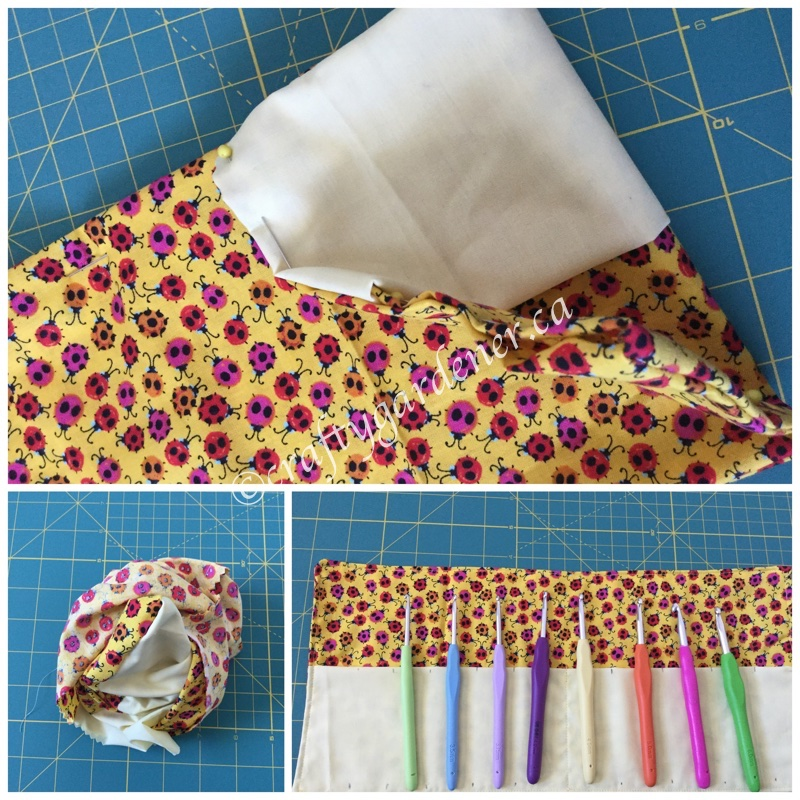 making a crochet hook case at craftygardener.ca