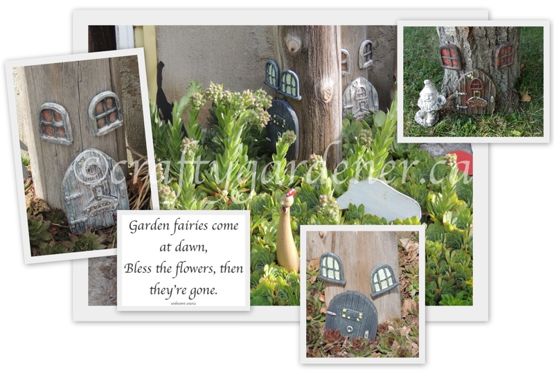 fairy doors at craftygardener.ca