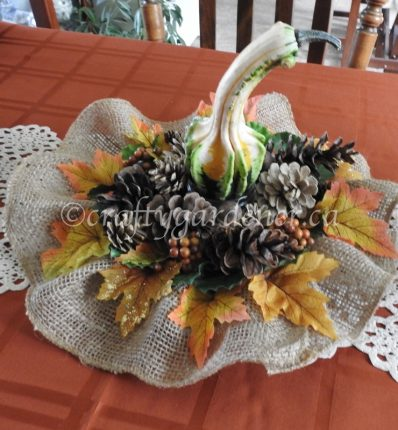 how to make a fall centrepiece at craftygardener.ca