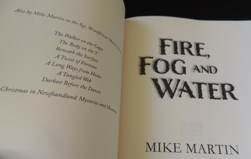 Fire, Fog and Water by Canadian author Mike Martin