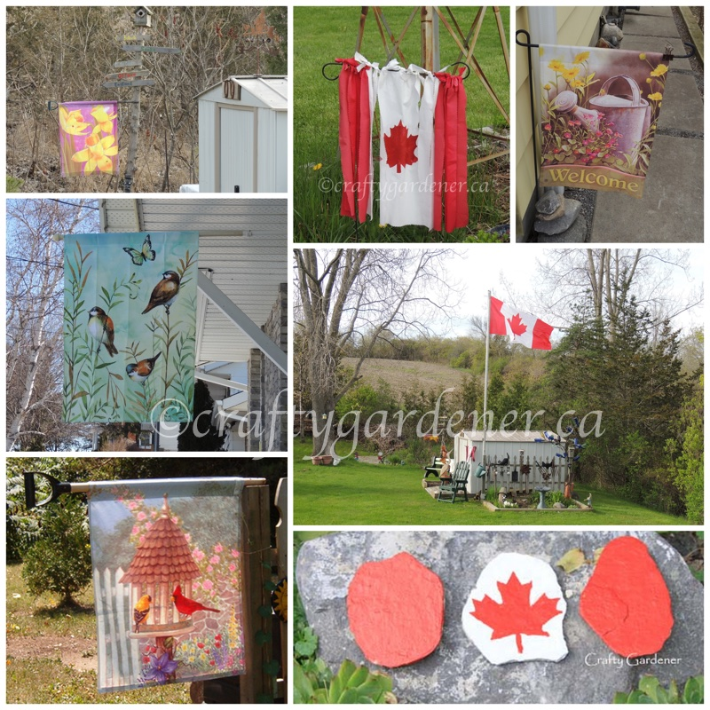 garden flags at craftygardener.ca