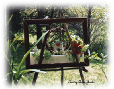 an easel planter at craftygardener.ca