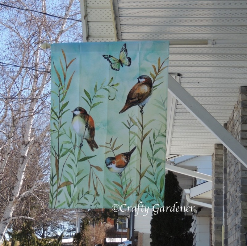 the spring flags at craftygardener.ca