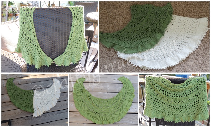 knitted Summer Flies shawl at craftygardener.ca