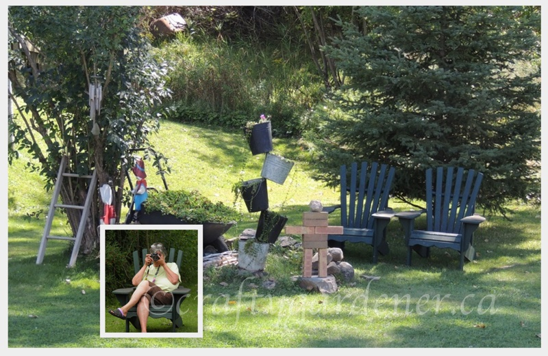 a quiet spot to relax at craftygardener.ca