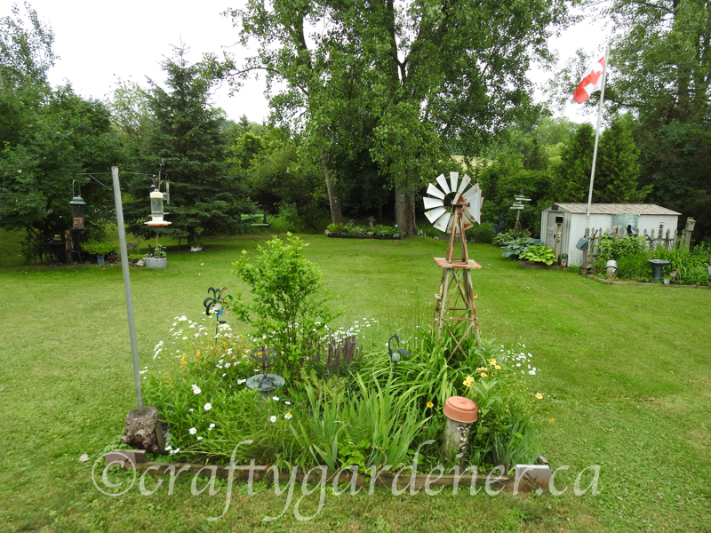a view of the back gardens at craftygardener.ca
