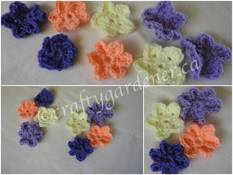 making knitting needle flowers at craftygardener.ca