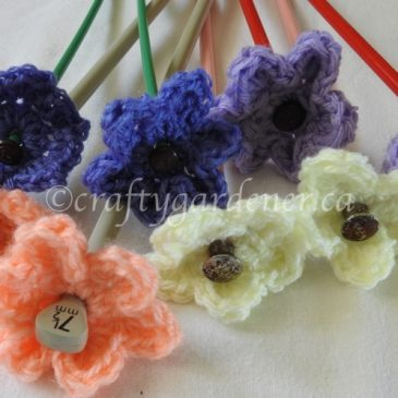 Knitting Needle Flowers