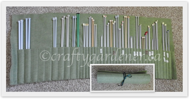 knitting needle storage at craftygardener.ca