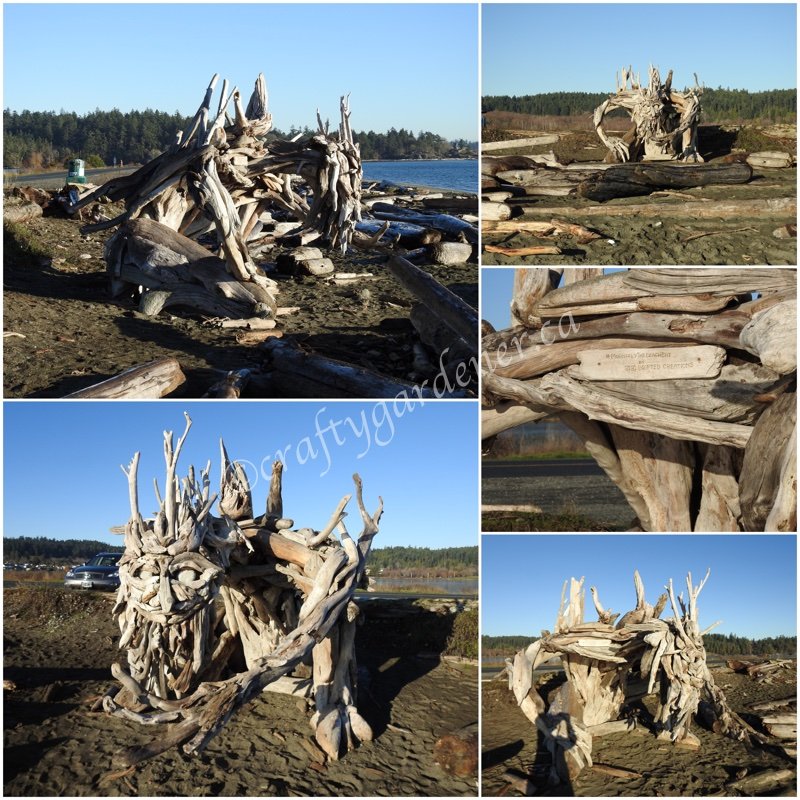 The McGnarly sculpture at the Esquimalt Lagoon in British Columbia