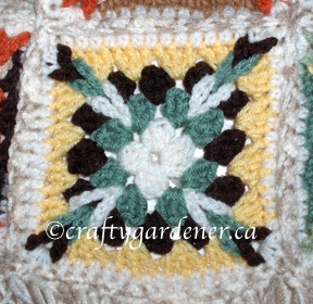 a granny square at craftygardener.ca