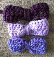 crochet little bows at craftygardener.ca
