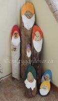 making log gnomes at craftygardener.ca