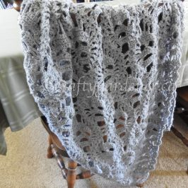 Lost Souls crochet shawl at craftygardener.ca