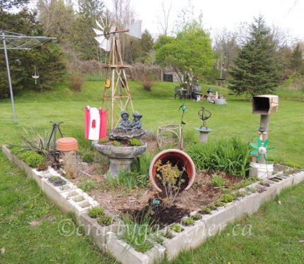 the windmill garden in May 2017 at craftygardener.ca