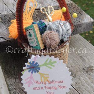 How to make a min yarn basket at craftygardener.ca