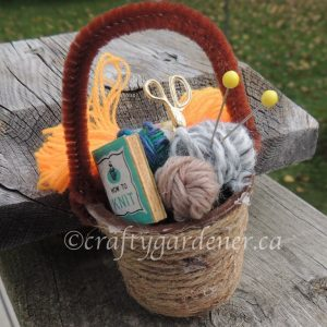 A Mini Yarn Basket