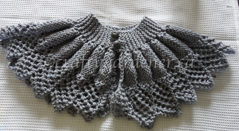 knitted neckwarmer at craftygardener.ca