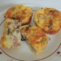 omelette muffins at craftygardener.ca