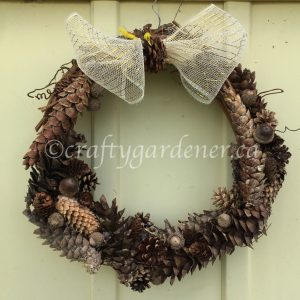 A Pinecone Wreath